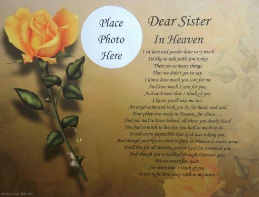 Dear sister in heaven memorial