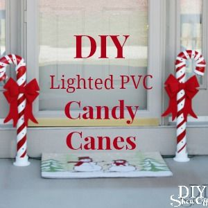satisfy that sweet tooth with these fun #candycane decorations made w/ #reused #PVC pipes.