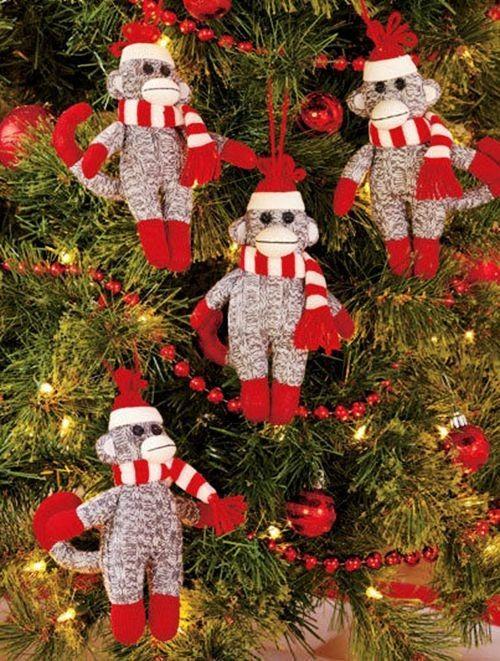 Crochet Sock Monkey Ornament for 2013 Christmas   Personalized ...