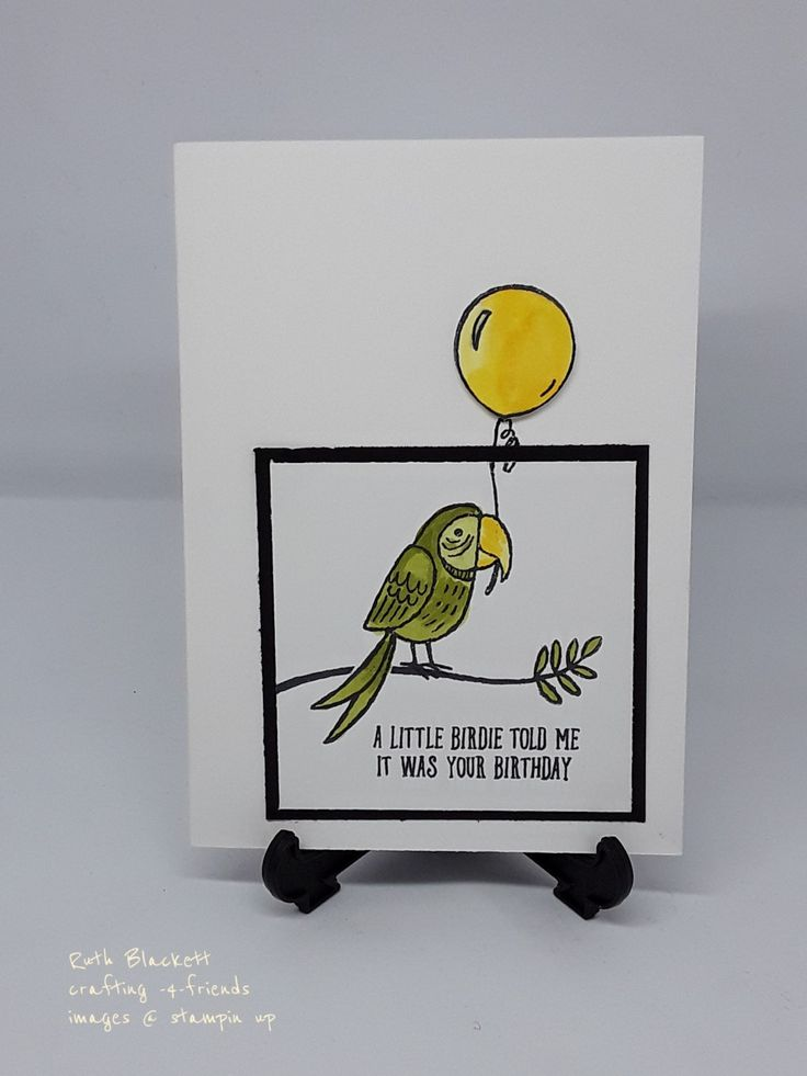 Cased bird banter stampin up