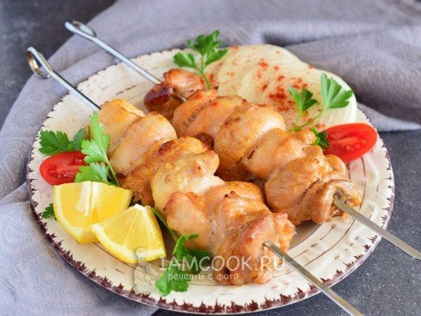 Шашлык из куриного филе в духовке
