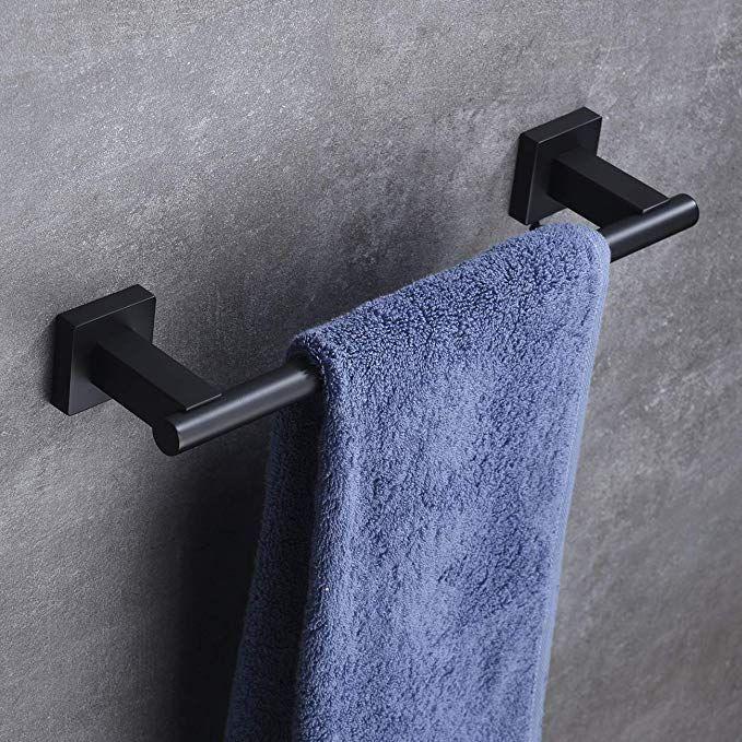 Hoooh 12 Inch Bath Towel Bar Stainless Steel Hand Towel Rack Holdle For Bathroom Kitchen Wall Mount Brushe In 2020 Towel Holder Bathroom Towel Bar Kitchen Towel Holder