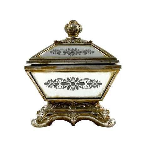 mirrored effect jewellery box dunelm