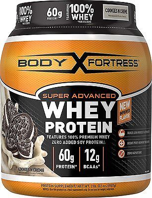 Body Fortress Super Advanced Whey Protein Powder, Cookies N039 Creme, 2 Pound7  UPC - 074312663369