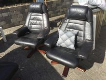 Sorte lænestole, 3 stk lænestole...