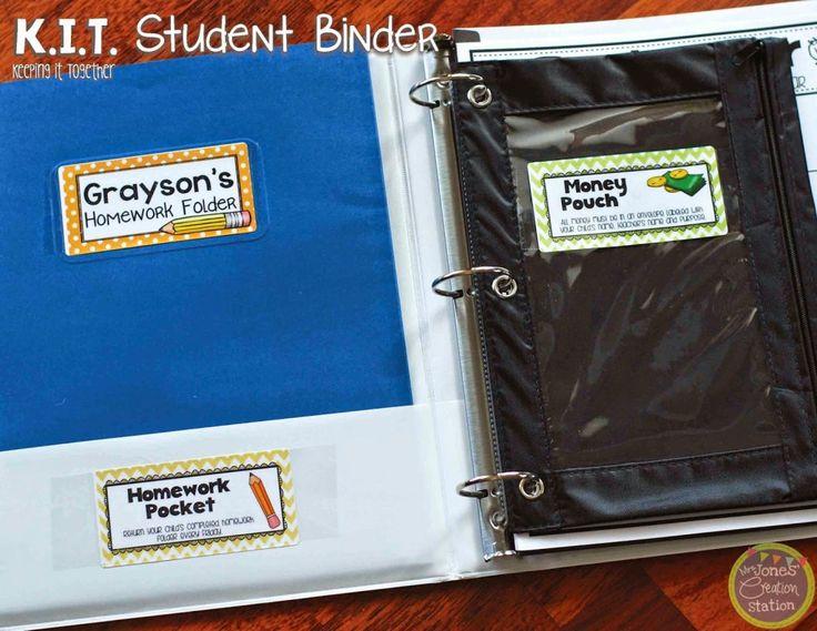 Keeping It Together: KIT Student Binder - Mrs. Jones' Creation Station
