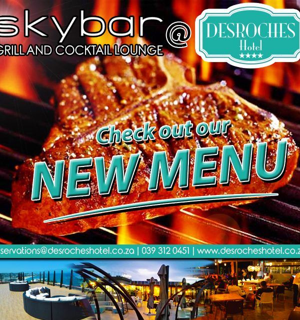 We have just launched our new #MENU at #Skybar #Grill and #CocktailLounge!
