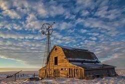 Well Weathered Barn, an old barn in Saskatchewan Canada