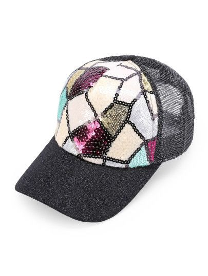 Patchwork Sequin Beyzbol Şapkası