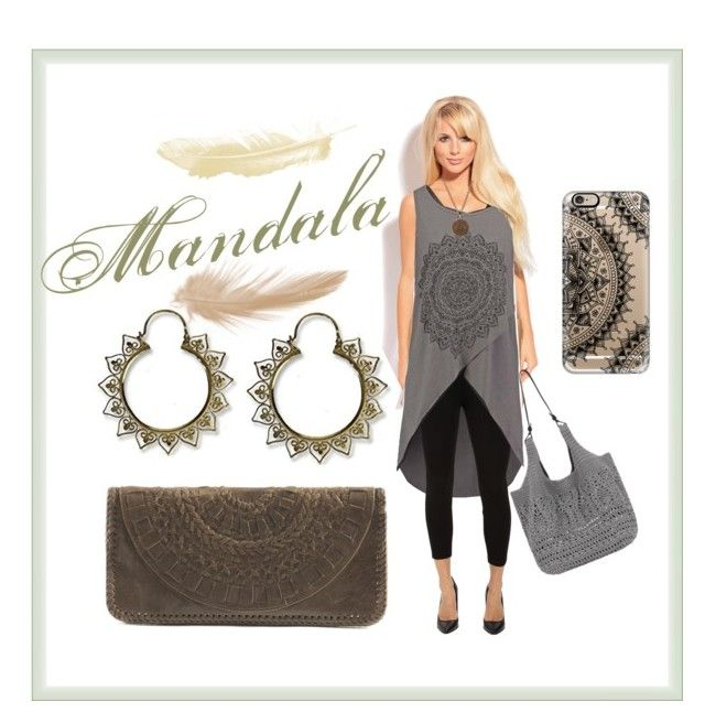"""Mandala"" by myfashionvault ❤ liked on Polyvore featuring even&odd, Daisy's, Miraclebody Jeans by Miraclesuit, The Sak, Casetify and Puck Wanderlust"