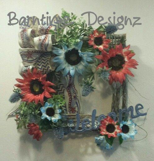 Welcome American Holidays! Twig wreath - Americana wreath - summer wreath - Fourth of July wreath