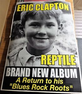 ERIC CLAPTON. 2001.Australian 2 Sheet Promo Poster. REPTILE Album. Click Pic to find in eBay Store.