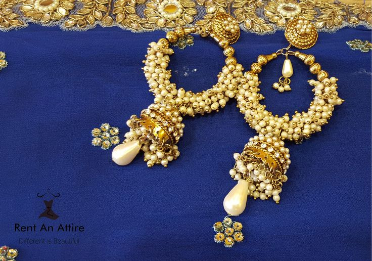 Wear this elegant earring to any wedding and you are sure to stand out in the crowd!   Try it ♡ Book it ♡ Flaunt it