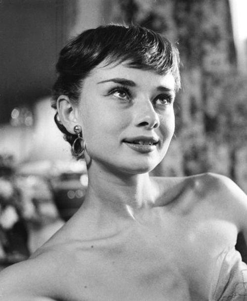 Rare Audrey Hepburn — Audrey Hepburn photographed before attending a...