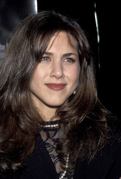 Jennifer Aniston smells something rotten (like the movie, right, right?) at the 1992Leprechaun premiere.