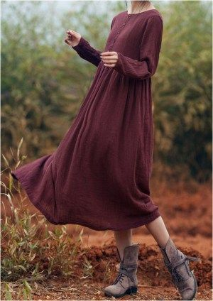 142 ideas for gorgeous long sleeve maxi dresses casual (36)