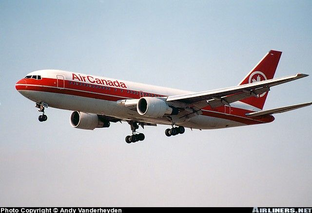 Gimli Glider-I've had the pleasure of flying on this when I flew at AC. I believe it is now retired.