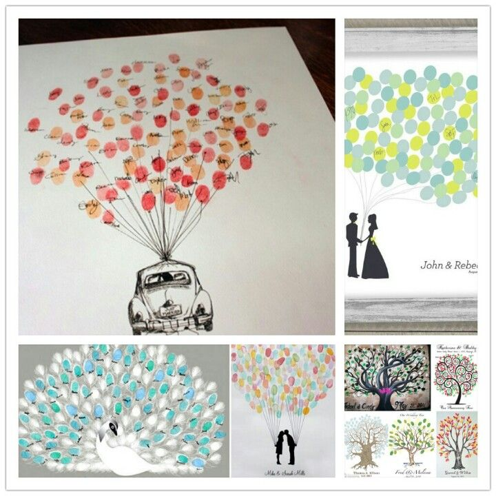 Creative wedding guest ideas-could do this with an MG drawing