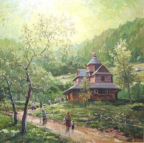 A wooden church in Ukraine
