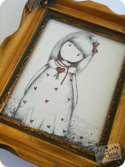 *NEW* The Red Ribbon - ORIGINAL FRAMED DRAWING (SOLD)
