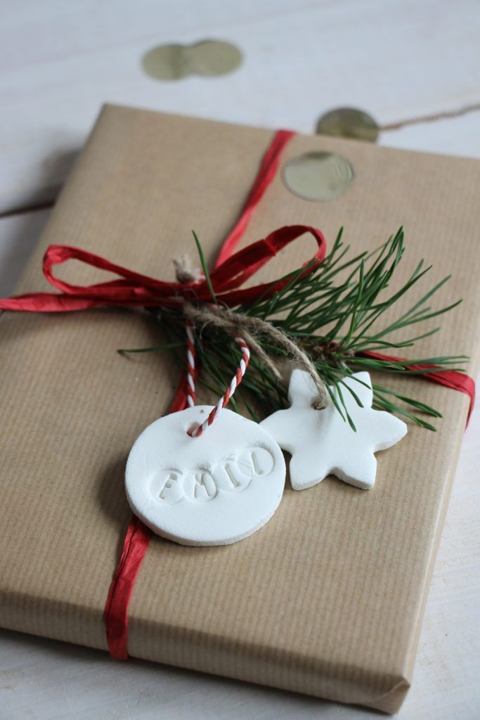 Kreative Weihnachtsgeschenke.Diy Kaltporzellan Geschenkanhänger Selber Machen Kreative