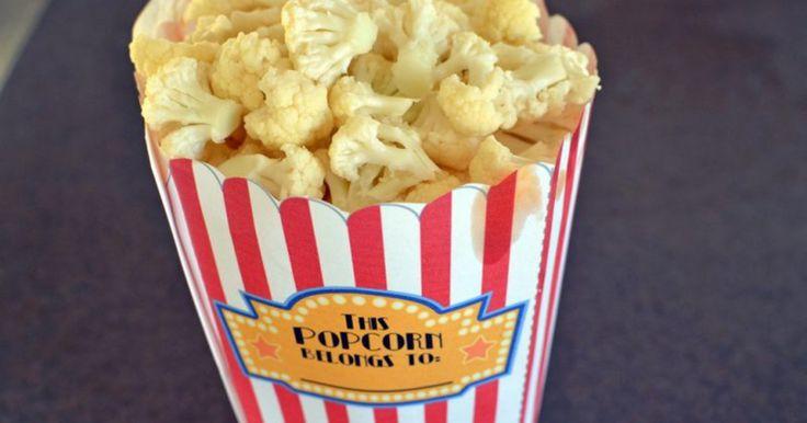 Popcorn van bloemkool