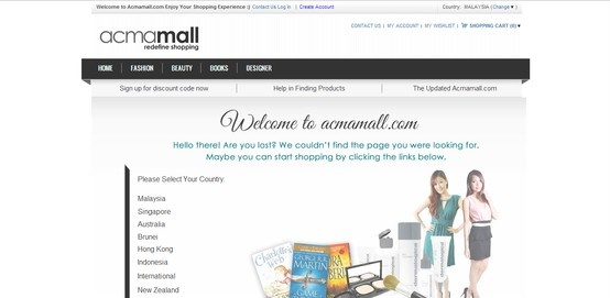 Acmamall Online Shopping Mall is an international shop online selling English book titles, skincare, haircare, cosmetic products with over 450 beauty brands. We provide free worldwide shipping for all beauty products.  We offer Prada, Coach, Miu Miu wallets, handbags as well as Cherie fashion tops, dresses and Cempaka baju kurung clothing.