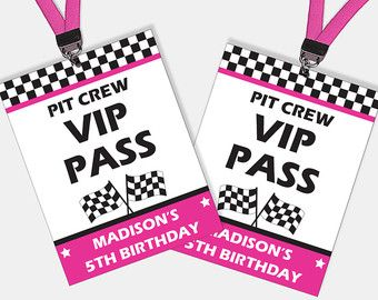 Dirt Bike Party VIP Passes Motorcycle Birthday by PixieBearParty