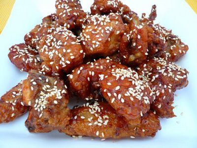 Honey Sesame Chicken. If this turns out well, we may never go to a Chinese restaurant again.