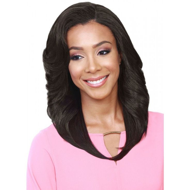 Bobbi Boss Synthetic Lace Front Wig MLF140 Neptune Color Shown: 4 Length: Medium Heat safe up to 380F Style: Flip Curl, Bang Bobbi Boss lace front wigs give you the most natural hairline with an ear-t
