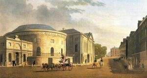 The New Assembly Rooms on Dublin's Rutland Square in the 1790s, now the Ambassador cinema beside the Gate Theatre on Parnell Square. Dublin City Council's plans to create a cultural quarter on Parnell Square give the square the potential to be a cultural hub of international standard.