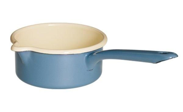Dark blue saucepan