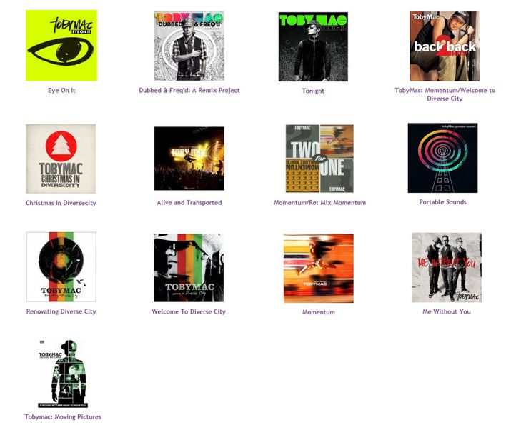 All of TobyMac's albums!!!