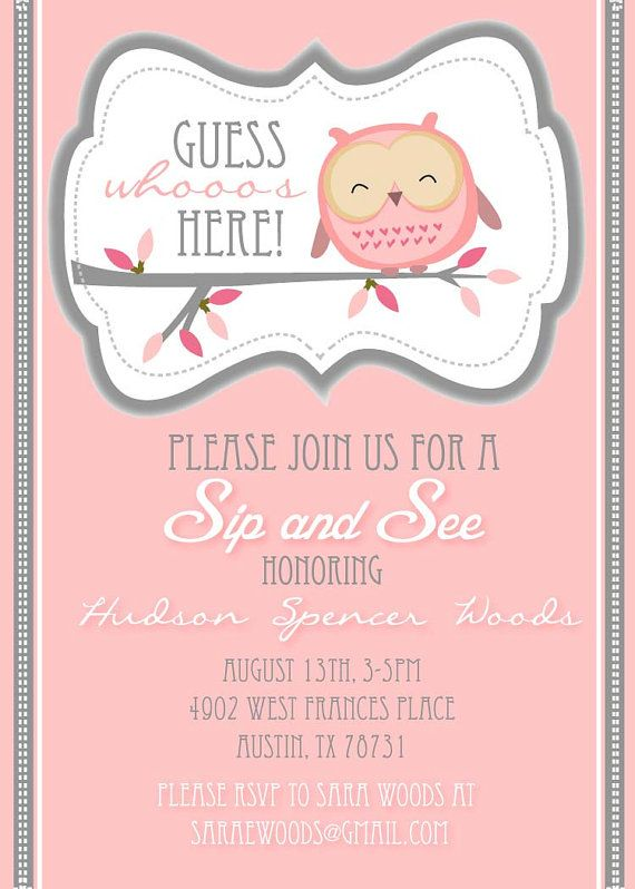 """A """"Sip and See"""" is a great option instead of a traditional baby shower for future kiddos.  Just serve yummy drinks and let the guests get a peek at the new arrival."""