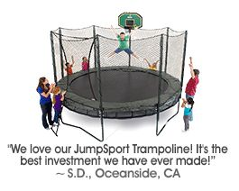 AlleyOop Sports® Trampoline Systems are the Safest Backyard Trampolines Available