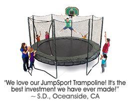 Safety Trampoline - 14ft. DoubleBounce Safe Trampoline System