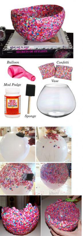 Ballon, confetti en knutselen maar