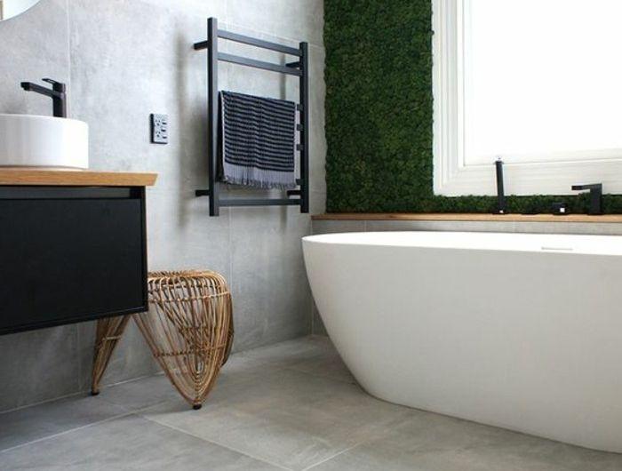 carrelage-effet-beton-ueuble-vasque-noir-et-grande-baignoire-blanche
