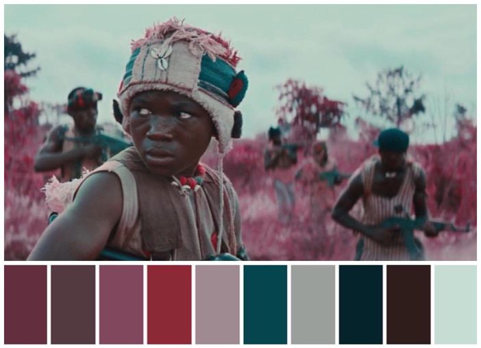 Beasts of No Nation (2015)  Director: Cary Fukunaga Cinematography: Cary Fukunaga Production Design: Inbal Weinberg
