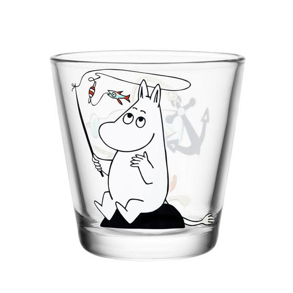 Moomin glass called Moomintroll fishing.