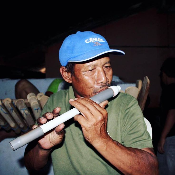 PVC suling flute player from Java, from Palmer Keen, Aural Archipelago