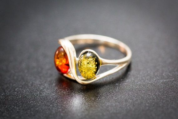 Fine Amber & Silver Rings Amber Ring Amber and by BalticBeauty925