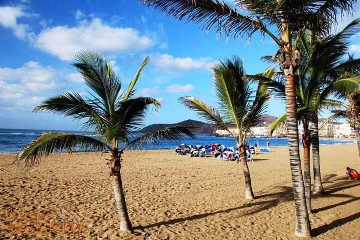 Na naszym FB można poczytać, która plaża Wysp Kanaryjskich podoba się najbardziej naszym fanom: https://www.facebook.com/WyspySzczesliwe/photos/a.374631509263026.83182.371607482898762/808585602534279/?type=1 Ta na zdjęciu to plaża Las Canteras w Las Palmas de Gran Canaria. #wyspykanaryjskie