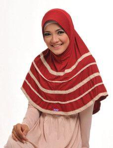 Zaria l Aifa    Variasi lainnya dari bergo renda, kali ini renda katun yang disusun berukuran beda.    Note : ciput dijual terpisah  http://jilbabmodis.net/elzatta-hijab/zaria-l-aifa