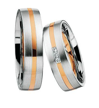 Bicolor Trouwringen Goedkoop, nieuwste modellen zijn binnen. Bicolor trouwringen met diamant. Minstens 40% Goedkoper dan bij de juwelier - € 695,00