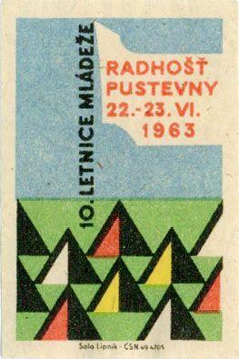 matchbox label from czech