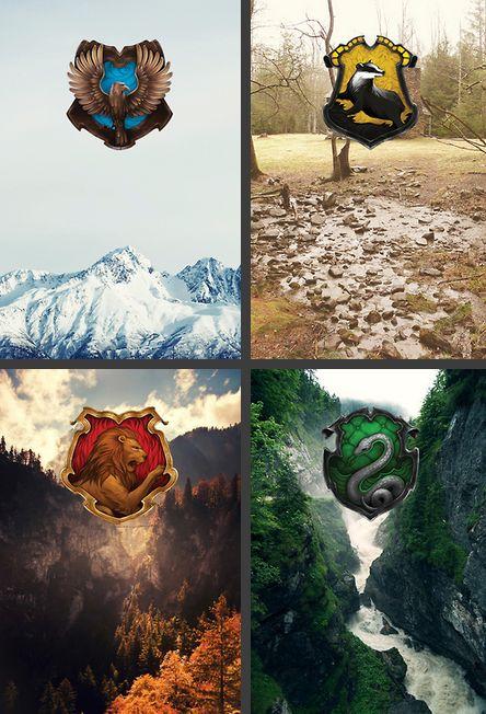 Hogwarts House landscapes.
