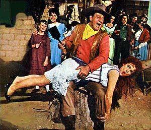 "Funny John Wayne | John Wayne paddling his wife (Maureen O'Hara) in ""McClintock!"" I love ..."