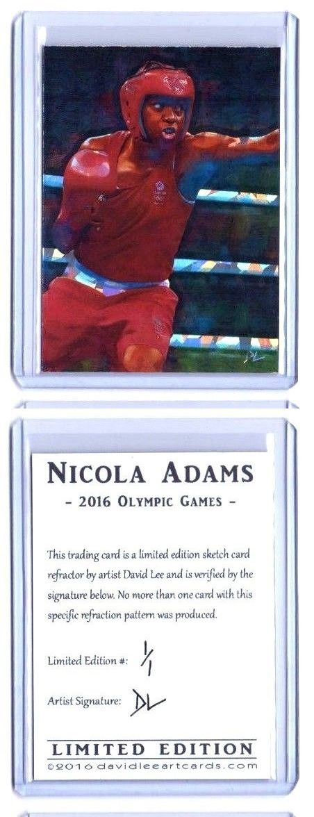 Olympics Cards 2956: Nicola Adams Olympic Boxing Sketch Card *Artist Signed Refractor* Rare 1 1 -> BUY IT NOW ONLY: $30 on eBay!