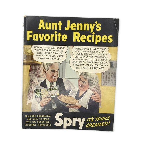 Vintage 1930s Cookbook Aunt Jenny S Favorite Recipes Etsy In